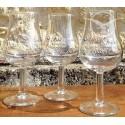 Schachtel mit 6 Gläsern Cognac Michel Forgeron